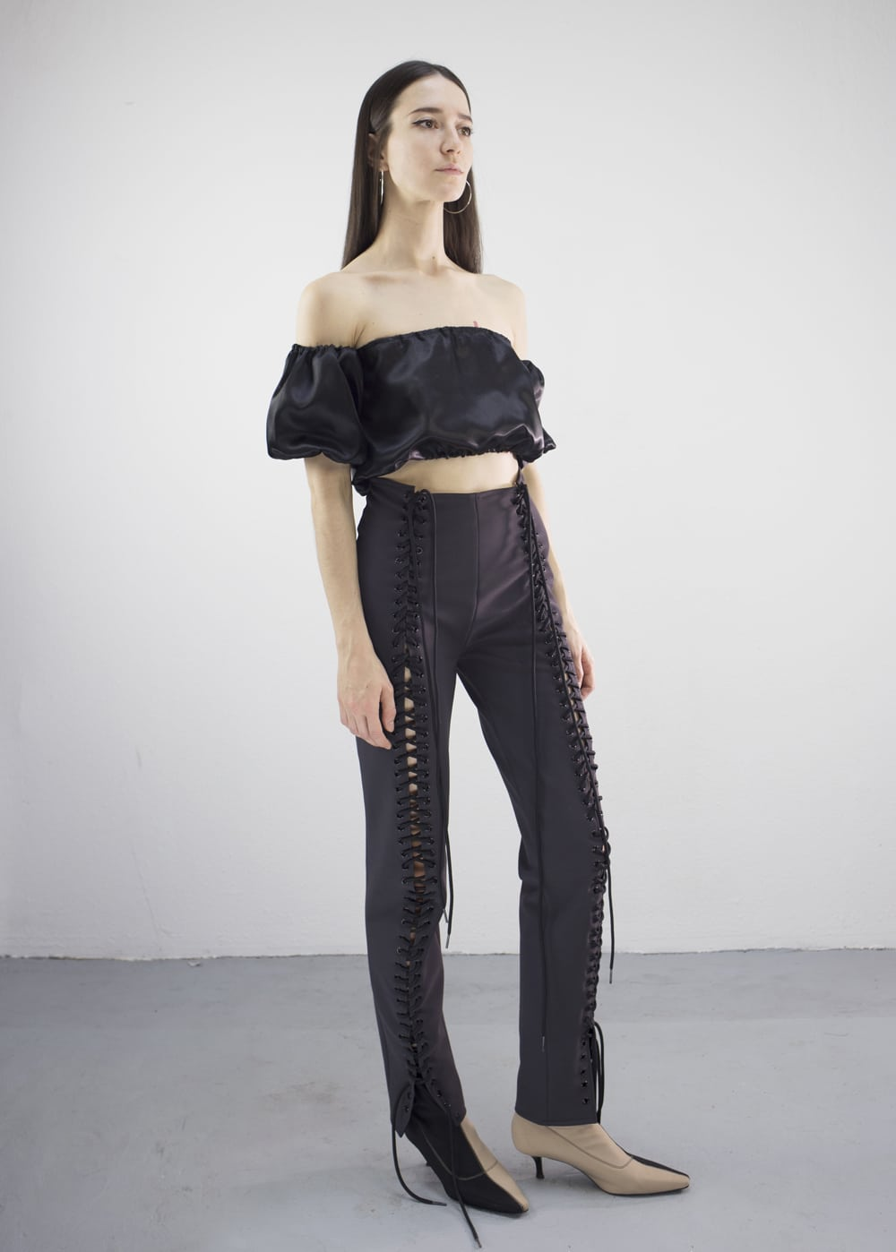 Neoprene Lace-Up Pants 1