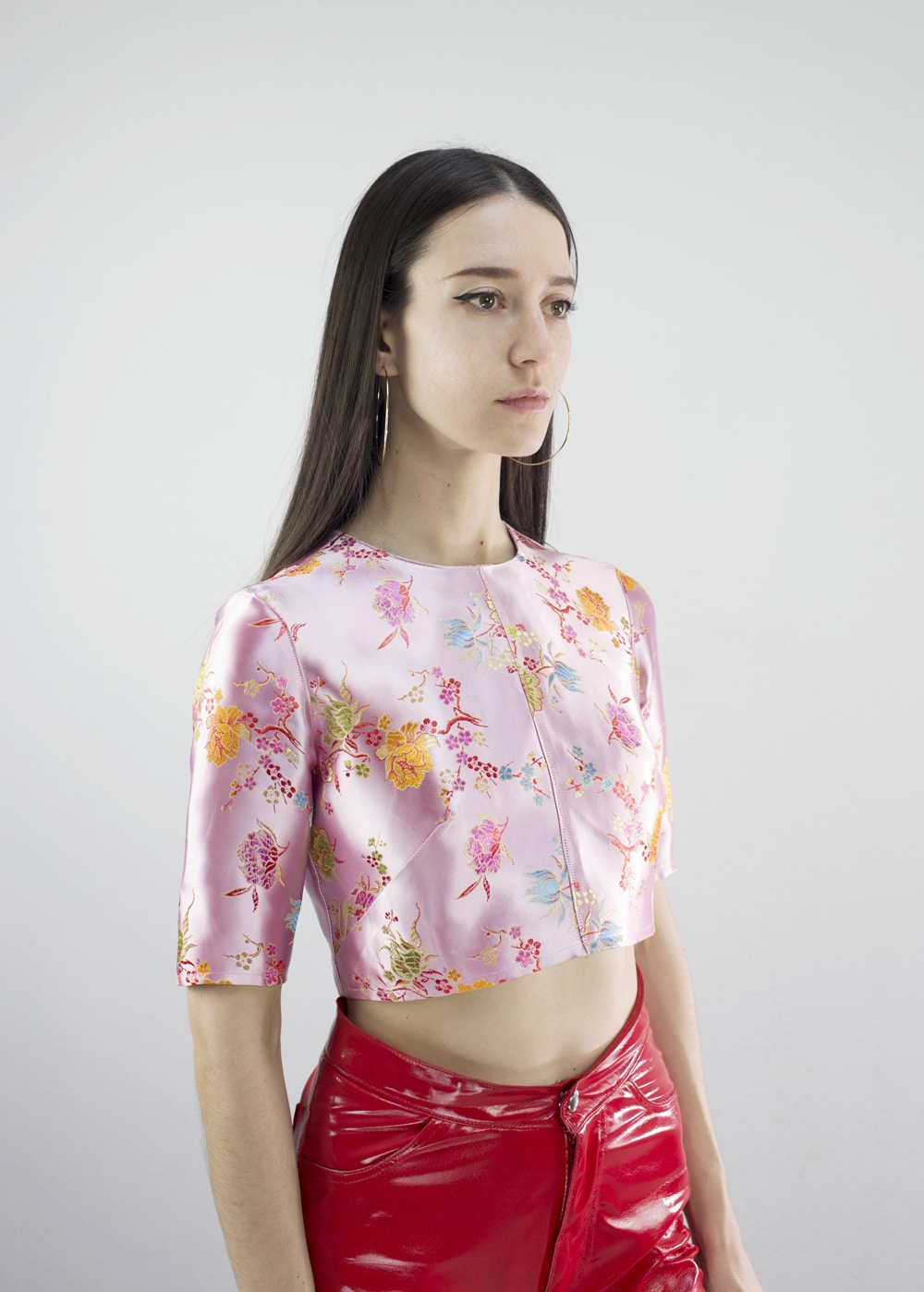Brocade Crop Top 1