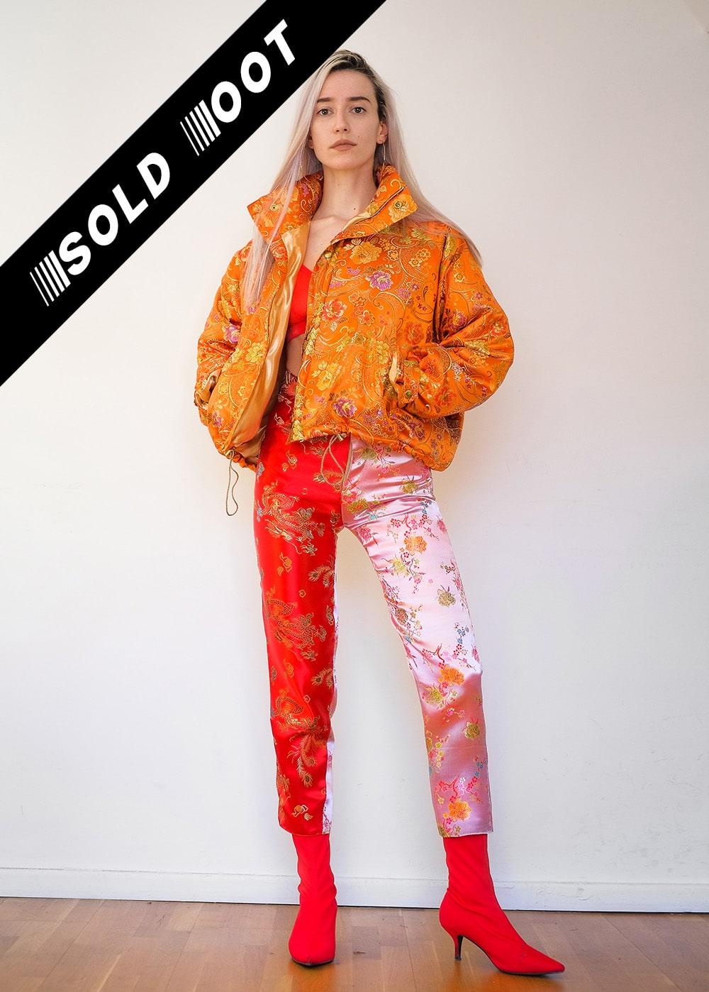 Brocade Two-Toned Pants 1