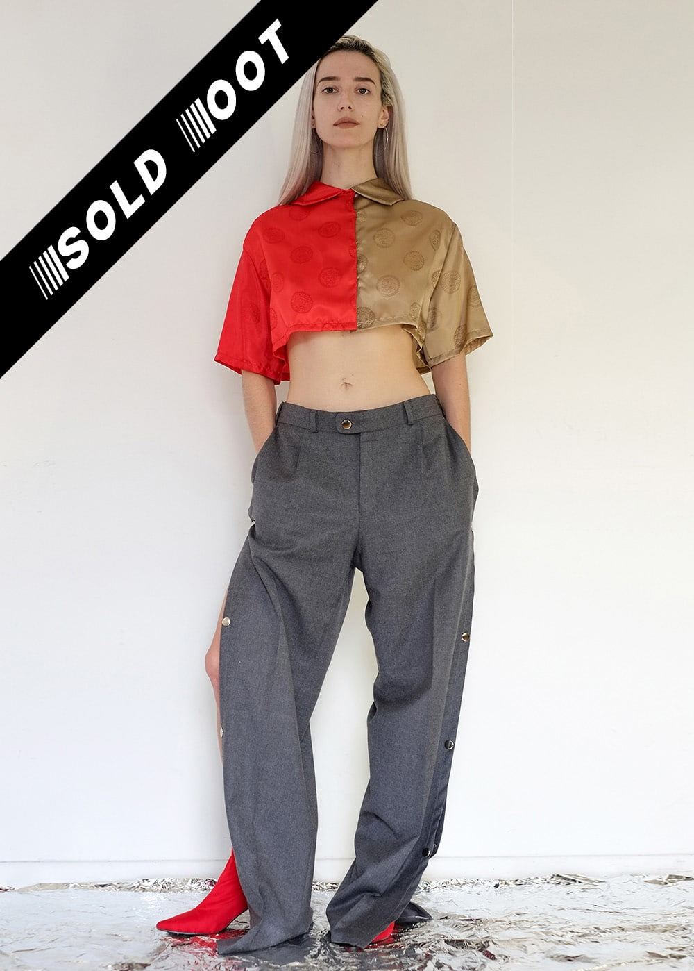 Reworked Low Waist Office Pants 388
