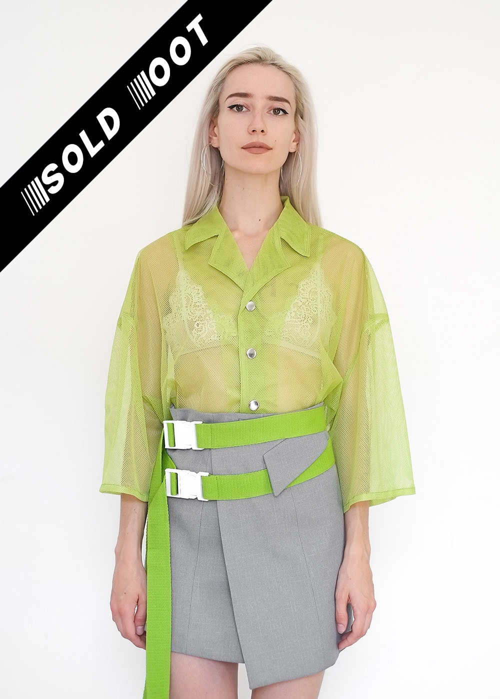 LIMITED ED Green Mesh Shirt 356