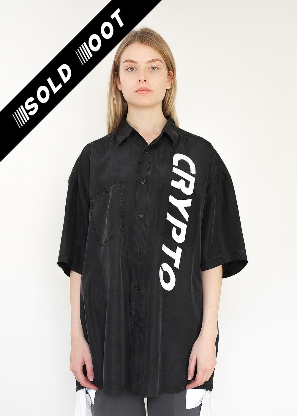 Reflective Crypto Silk Shirt 333