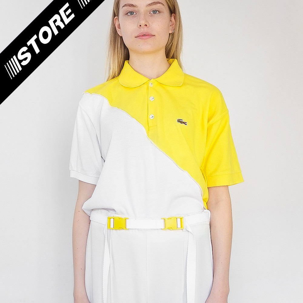 Reworked Lacoste Top Yellow 2