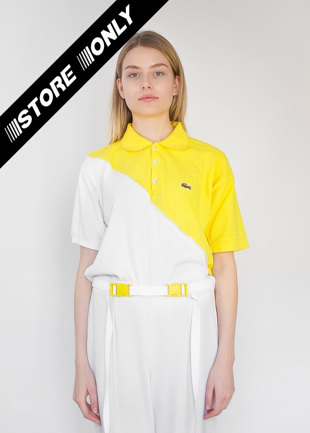 Reworked Lacoste Top Yellow 327