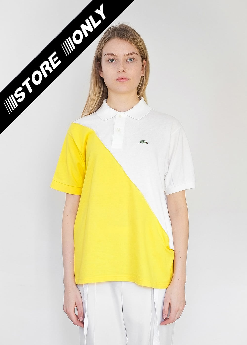 Reworked Lacoste Top White 345