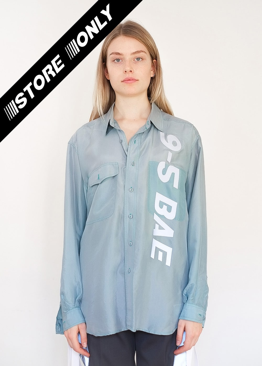 Reworked Reflective Silk Shirt 336
