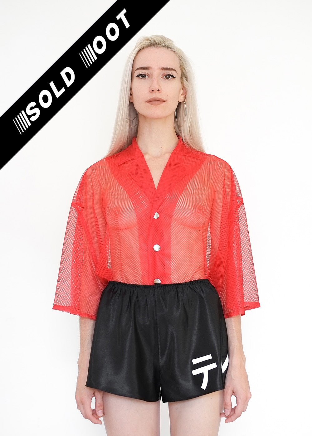 LIMITED ED Red Mesh Shirt 354