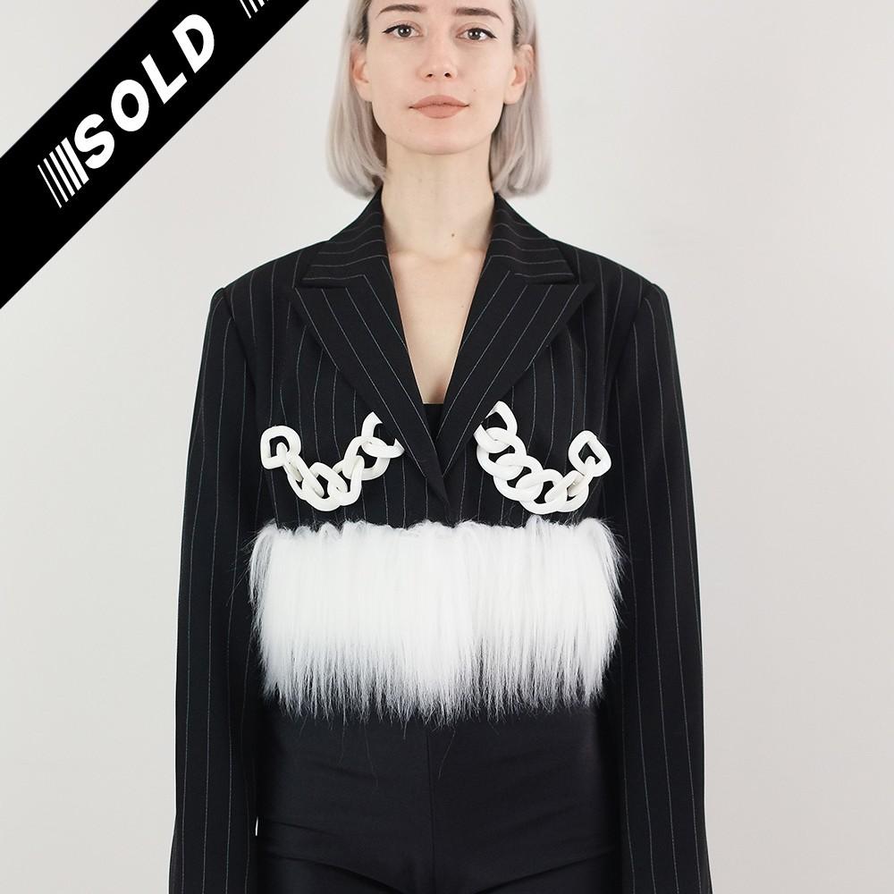 Faux Fur Chain Jacket 4