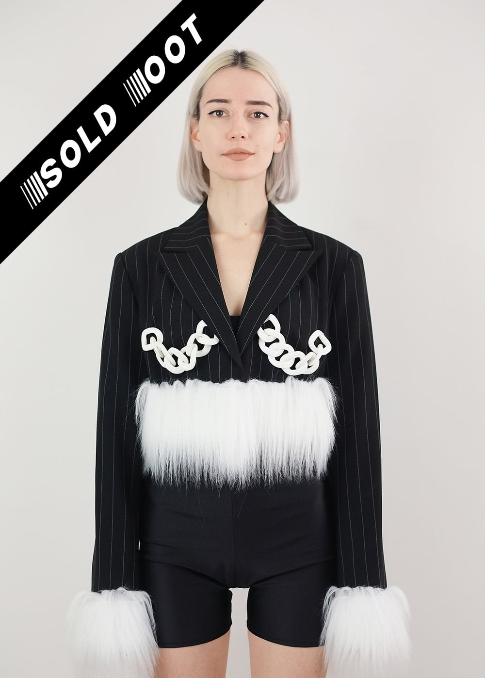 Faux Fur Chain Jacket 300