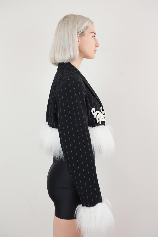 Faux Fur Chain Jacket 2