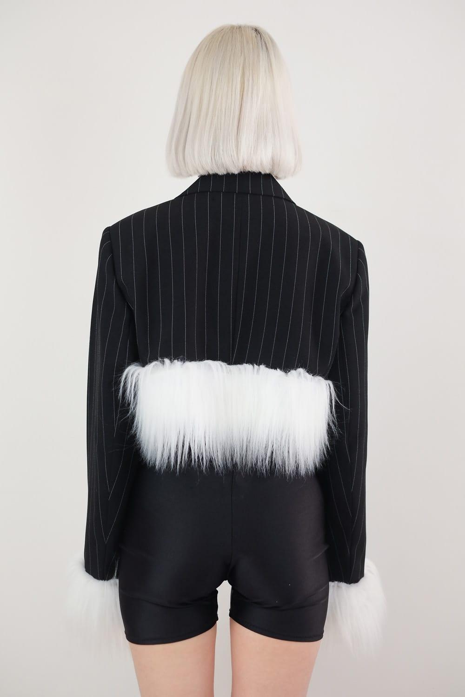 Faux Fur Chain Jacket 3