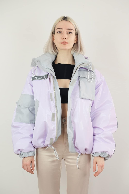 Lilac Vinyl Jacket 2