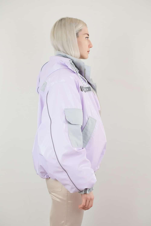 Lilac Vinyl Jacket 3
