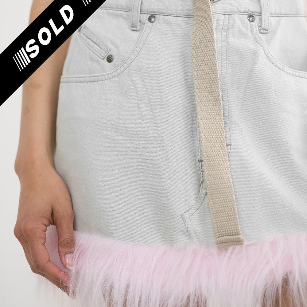 Reworked Pink Fur Skirt 4