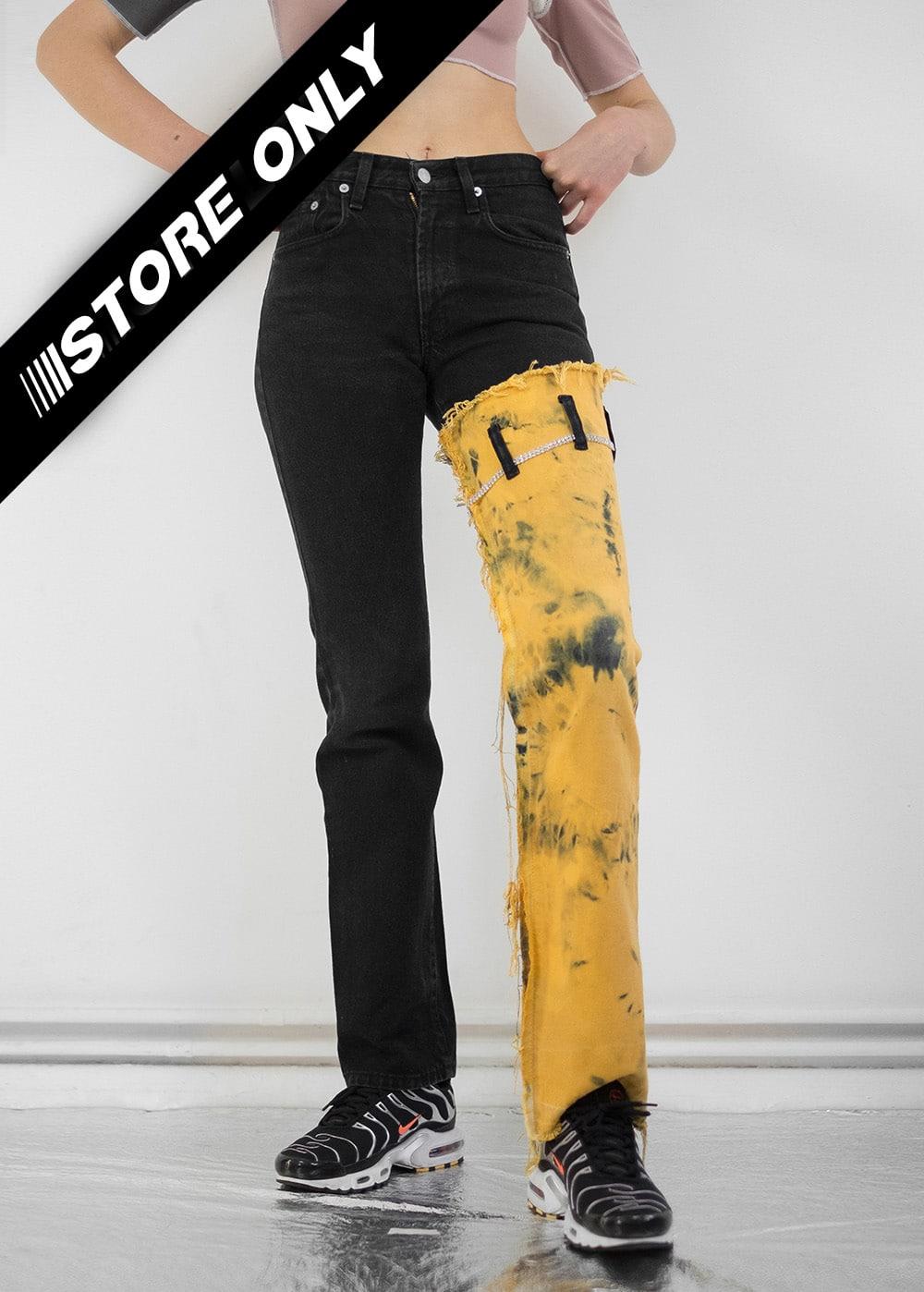 Reworked Tie Dye Jeans 240