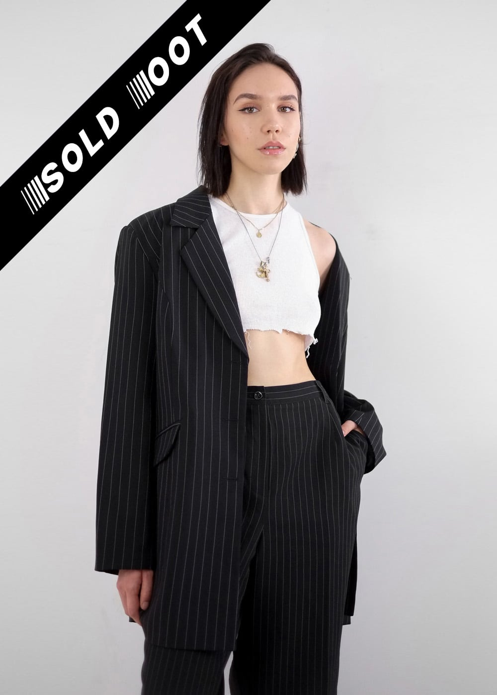 Pinstripe Suit Jacket 218