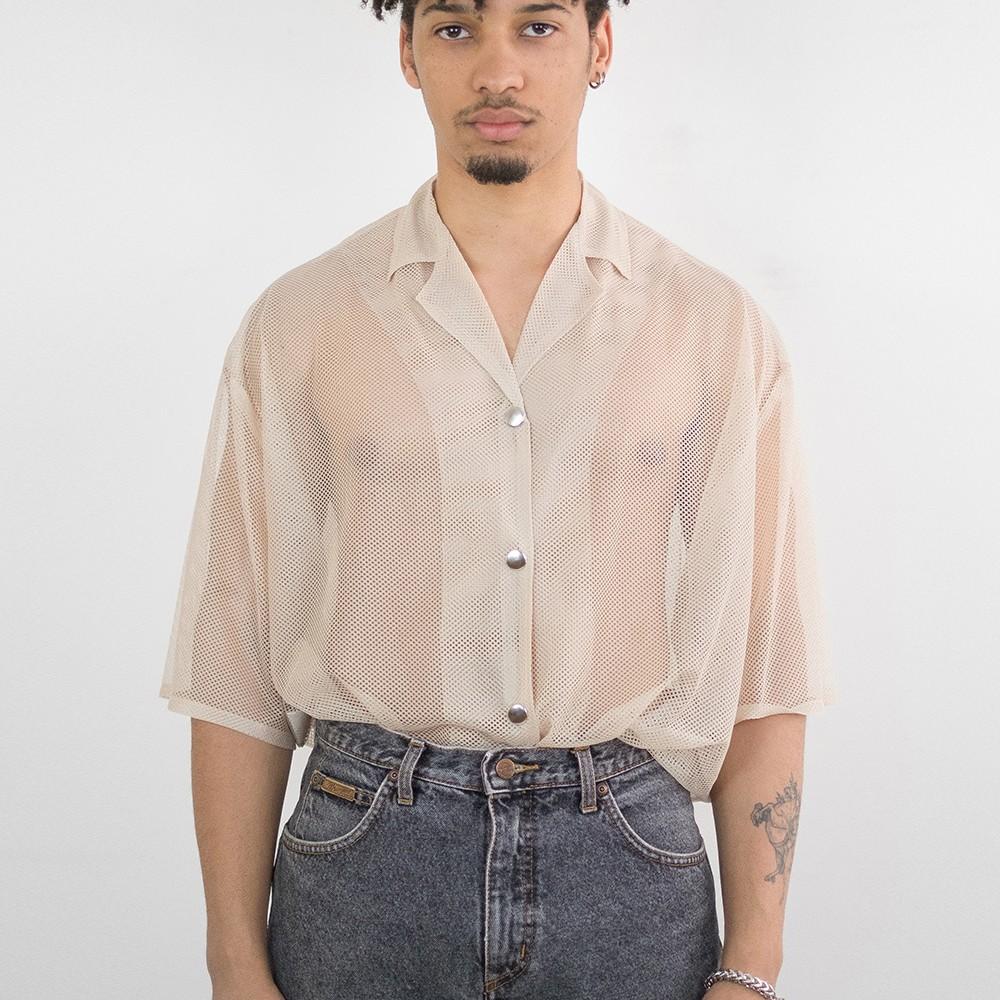 Oversized Mesh Shirt 4