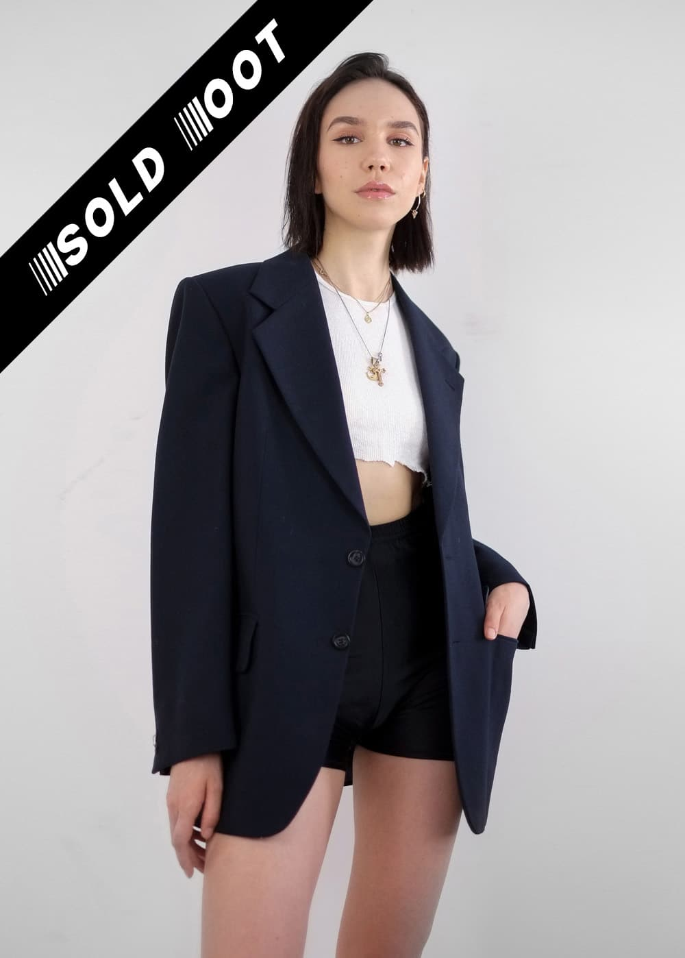 Navy Suit Jacket 229