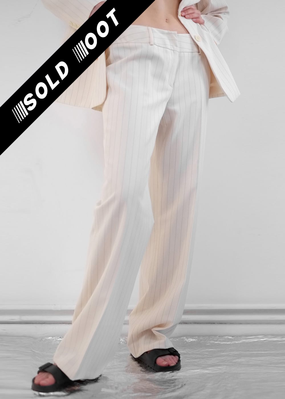 Cream Pinstripe Pants 234