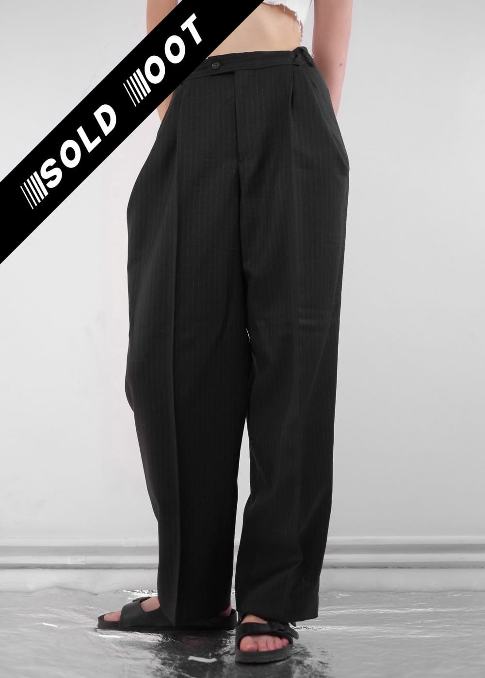 Black Pinstripe Pants 232
