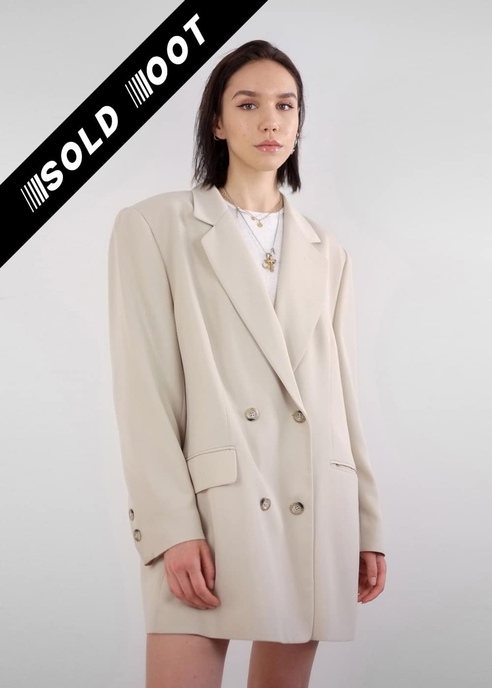 Beige Suit Coat 220