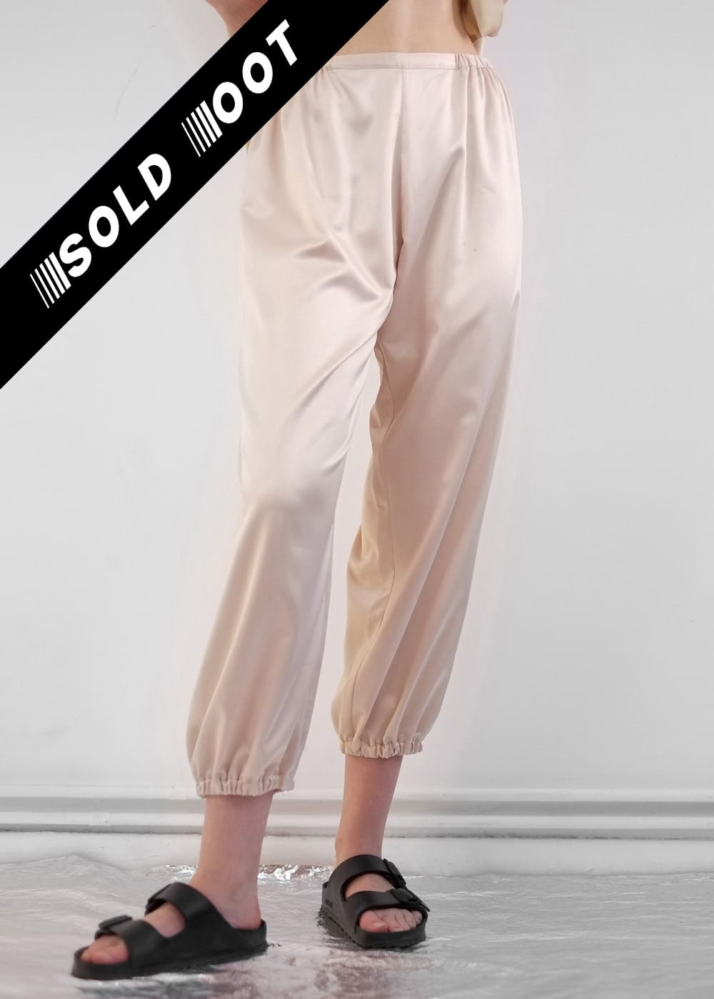 Beige Satin Pants 233