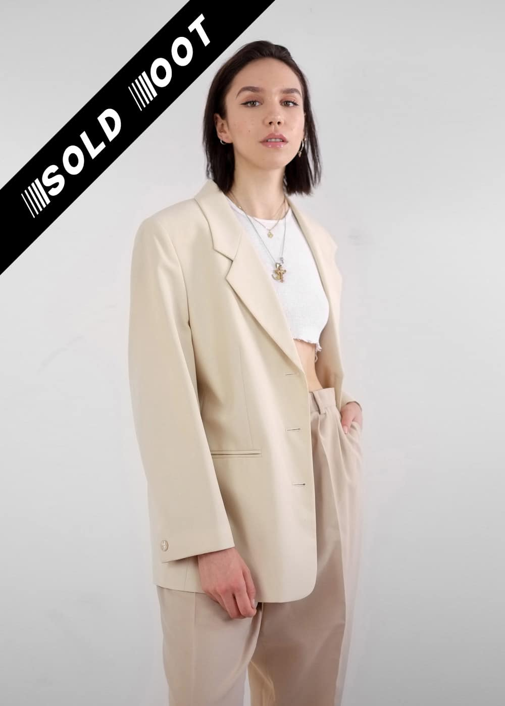 Beige Suit Jacket 221