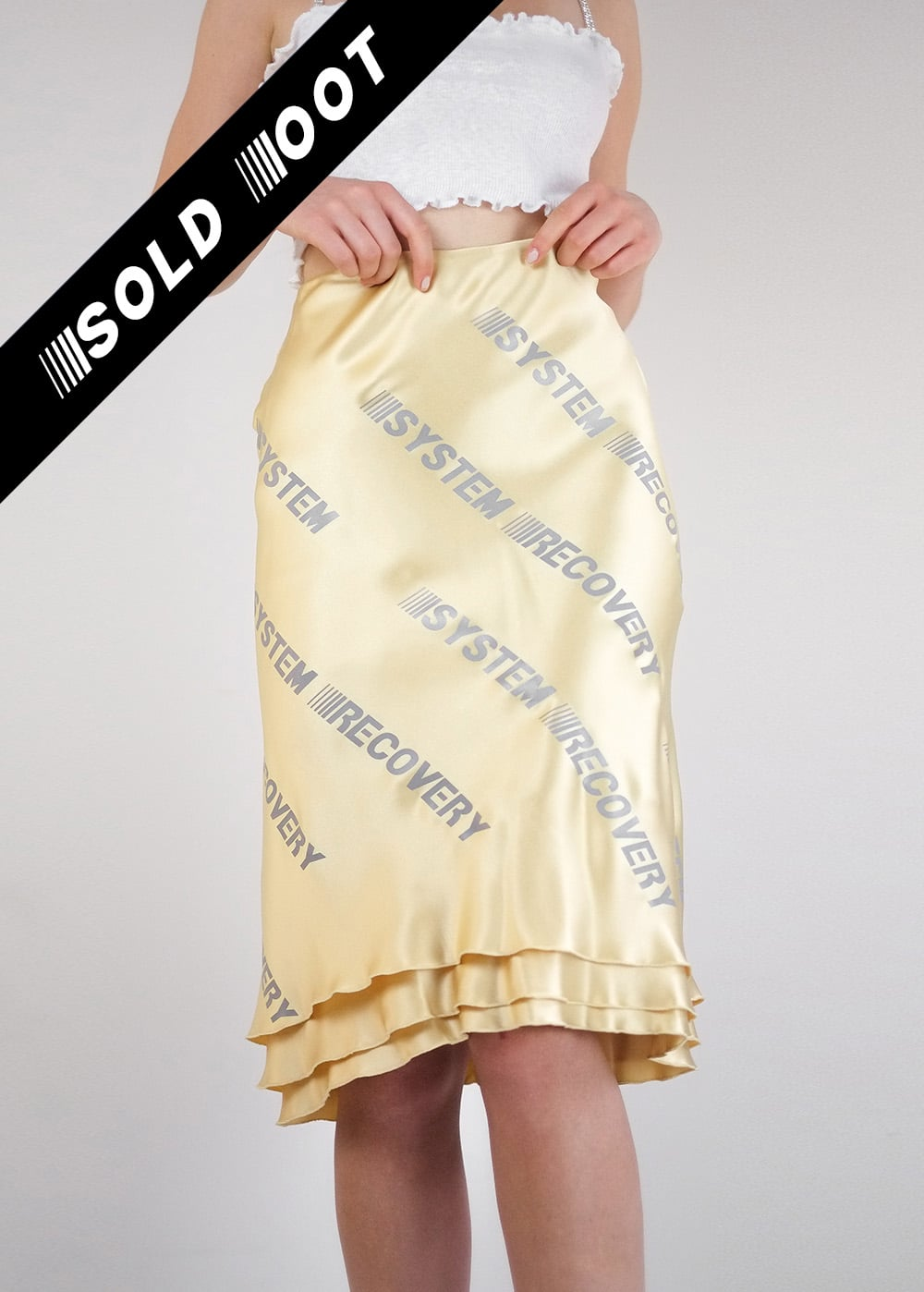 Reflective Silk Skirt 205