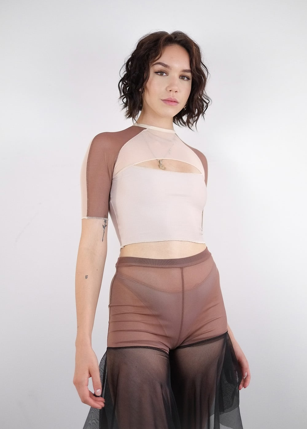 Mesh Top in Nudes 210