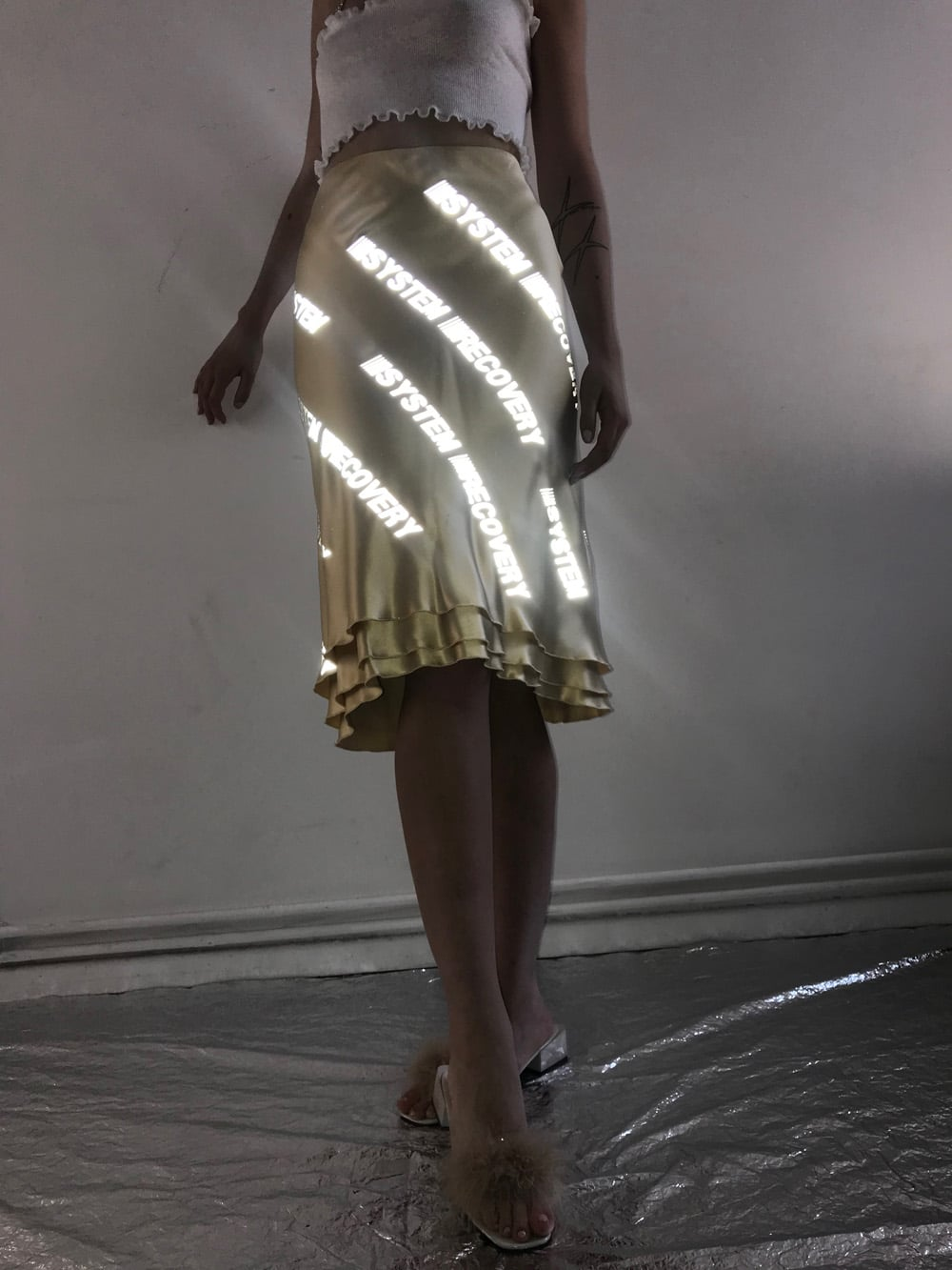 Reflective Silk Skirt 4