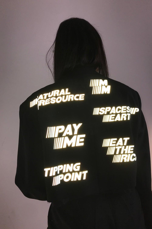 Reflective Cropped Jacket 4