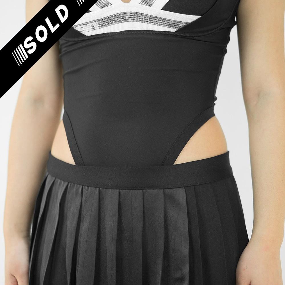 High Cut Black Bodysuit 4