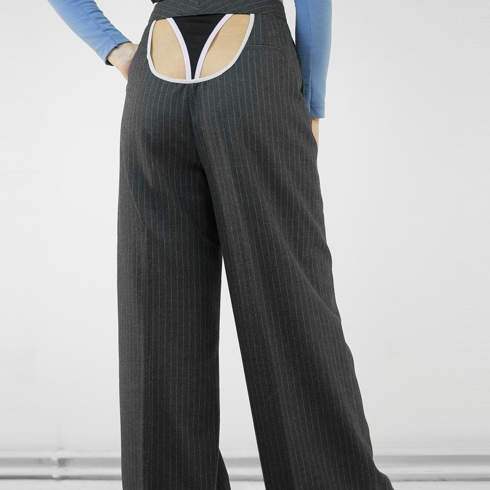Pinstripe Butt Pants 4