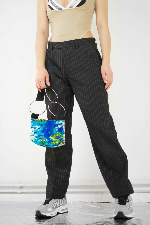 Black Pinstripe Butt Pants 2