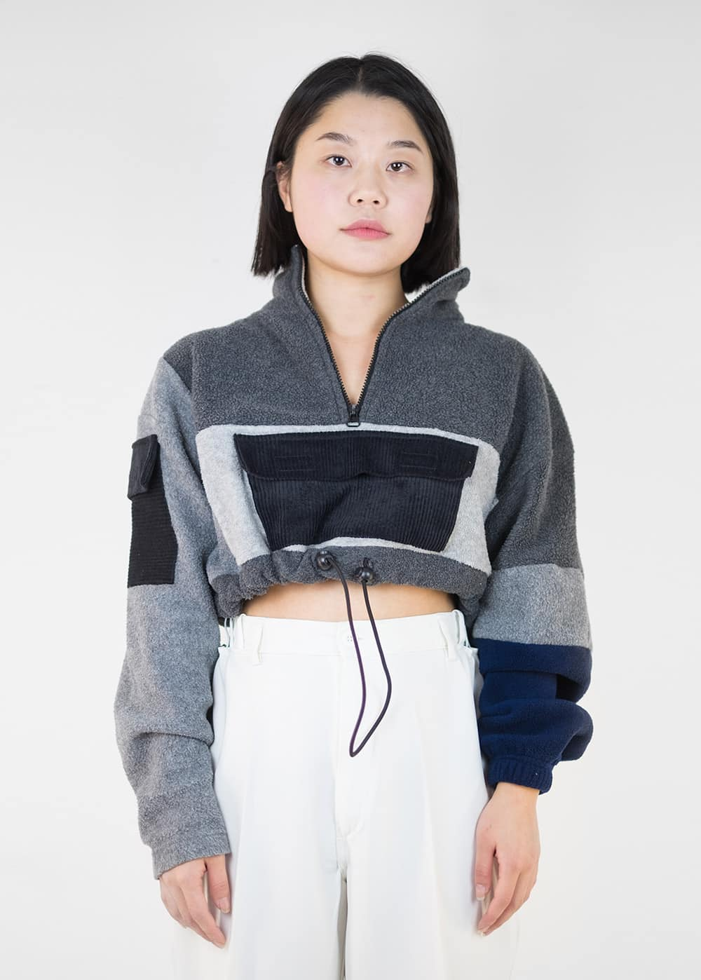 Reworked Crop Fleece 145