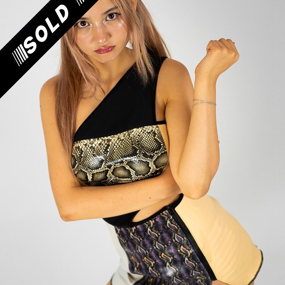 Upcycled Snake Leather Dress 1