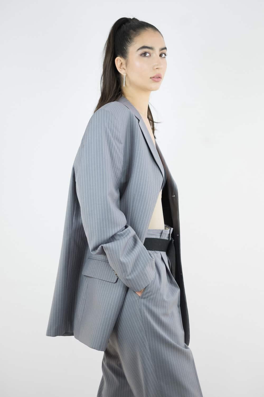 Pinstripe Suit Jacket 2