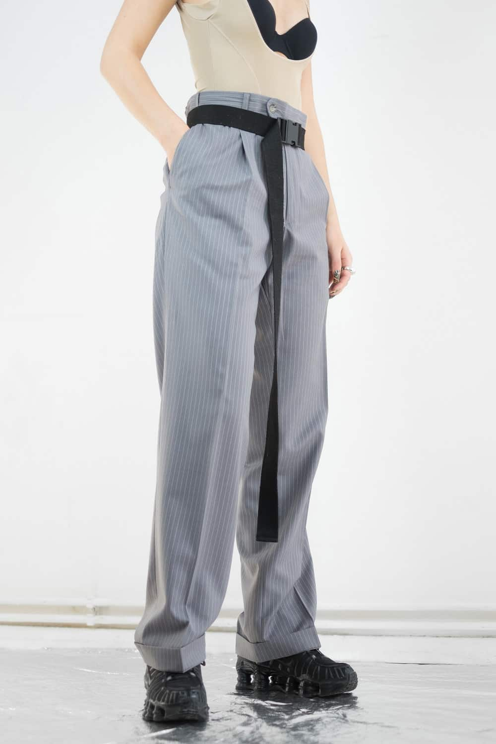 Pinstripe Suit Trousers 2
