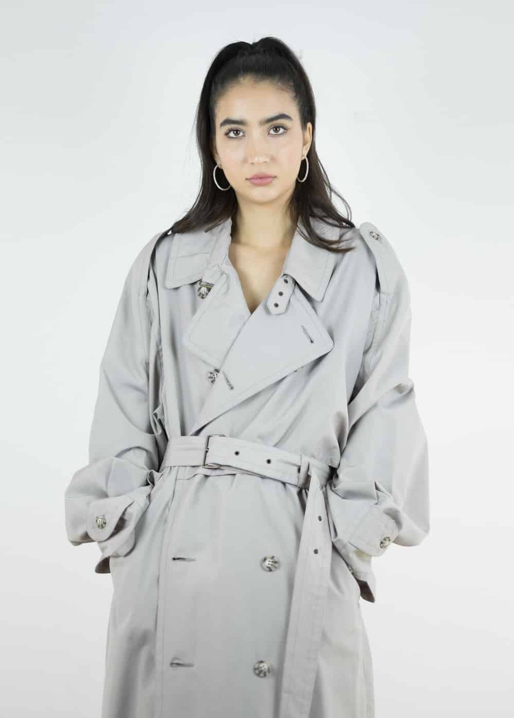 Taupe Trench Coat 159