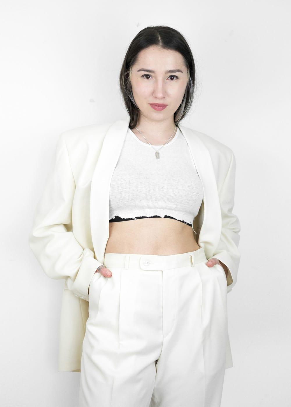 Cream Suit Combo 110