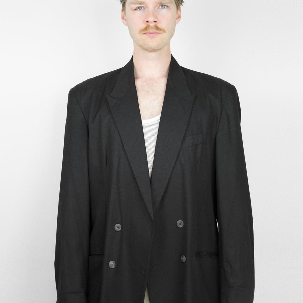90s Black Suit Jacket 7