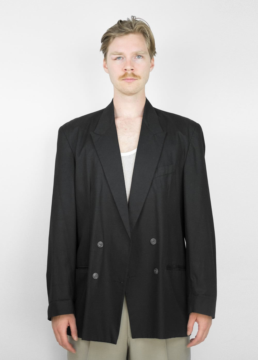 90s Black Suit Jacket 113