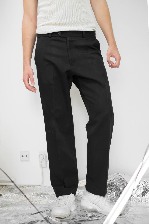 Simple Black Suit Pants 2