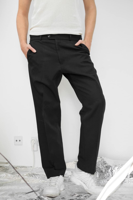 Simple Black Suit Pants 3