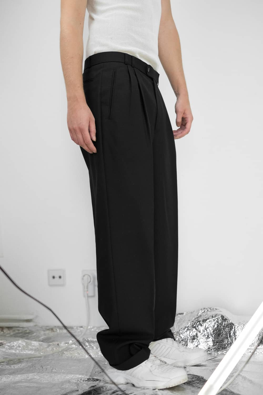 Black Pleated Suit Pants 4