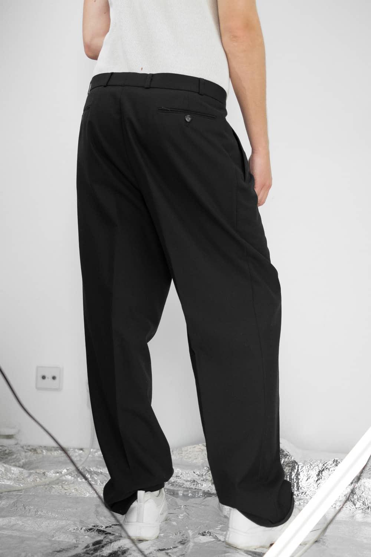 Black Pleated Suit Pants 5