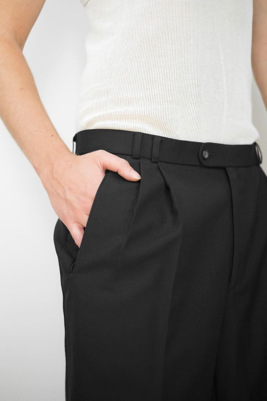 Black Pleated Suit Pants 6