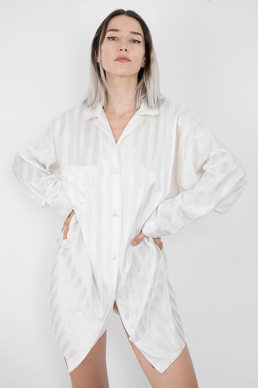Satin Striped Shirt 2