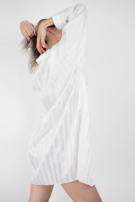Satin Striped Shirt 4